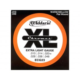 D'addario Chromes Flat/Extra Light 010-048
