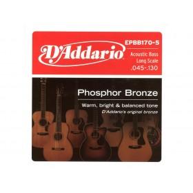 D'addario Ac. Bass Phosphor Bronze 045-130