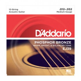D'addario Phosphor Bronze/Medium 012-052 EJ-39