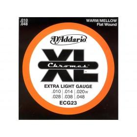 D'addario Chromes Flat/Extra Light 010-048