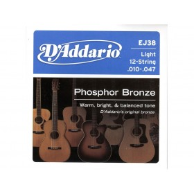 D'addario Phosphor Bronze/Light 12-str 010-047