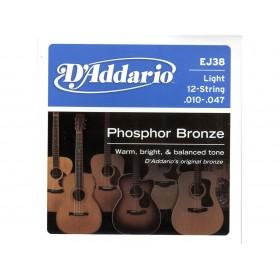 D'addario Phosphor Bronze/Light 12-str 010-047
