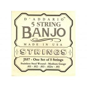 D'addario Stainless Steel Banjo 5-string 011