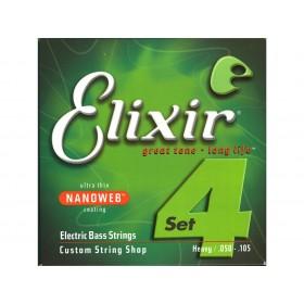 Elixir El. Bass Heavy Long 050-105