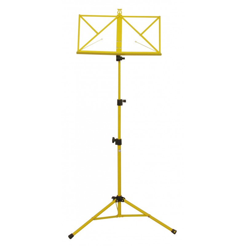 Hamilton Music Stand Yellow with bag KB380F-YL