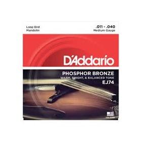 D'addario Phosphor Bronze Mandoline 011-040 J-74