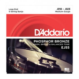 D'addario Phosphor Bronze Banjo 5-string 010 J-55