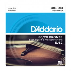 D'addario Bronze Madoline 010-034 J-62