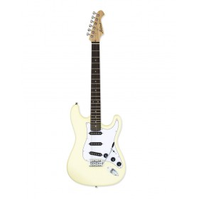 Aria Electric Guitar Vintage White STG-003SPL VW