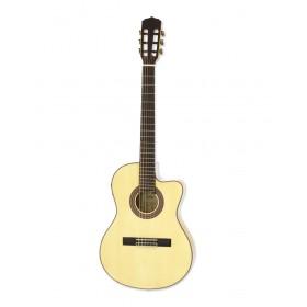 Aria Classical Guitar CE Thin Body Naturel A-48CE N