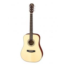 Aria Acoustic Guitar Naturel + bag ARIA-511 N