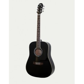 Aria Acoustic Guitar Black AWN-15 BK