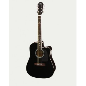 Aria Acoustic Guitar CE Black AWN-15CE BK