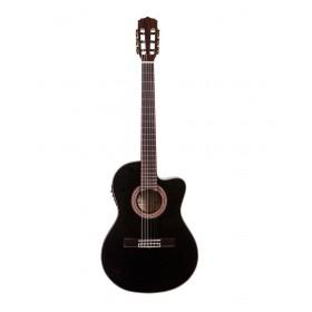Aria Classical Guitar CE Thin Body Sea-Through Black A-48CE