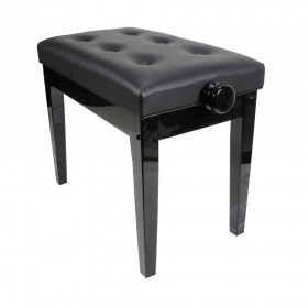 Piano Bench Black Luxe Model Adjustable Gloss KY102-17B