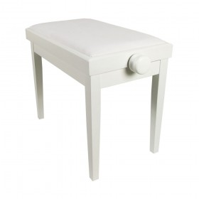 Piano Bench White Adjustable Matt KY102-14W