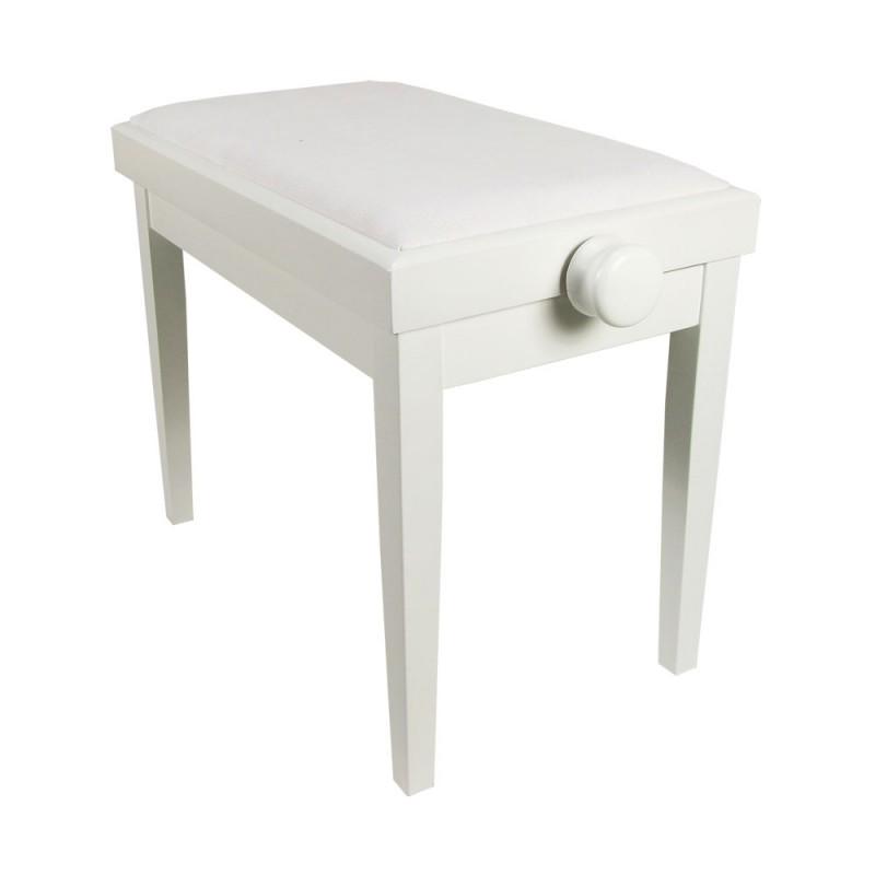 Piano Bench White Adjustable Matt KY102-14W