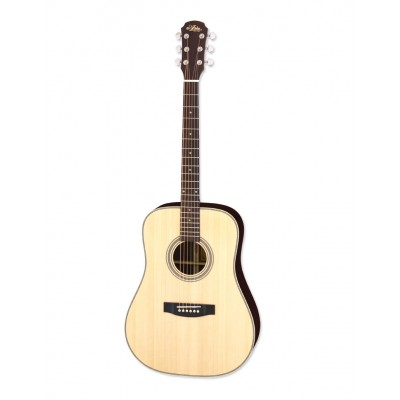 Aria Acoustic Guitar Naturel + bag ARIA-515 N