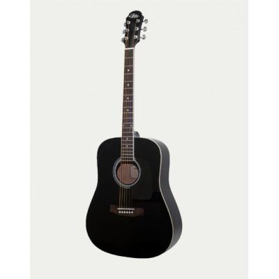 Aria Acoustic Guitar Black AWN-15 BK