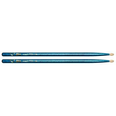 Vater Color Wrap 5A Blue Sparkle Wood Tip VCB5A