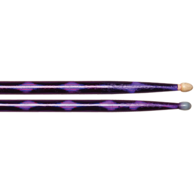 Vater Color Wrap 5A Purple Optic Wood Tip VCP5BW
